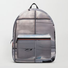 Reflections Of The Cloudy Sky Backpack