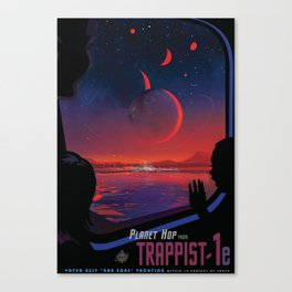 NASA Retro Space Travel Poster #13 - TRAPPIST-1e Canvas Print