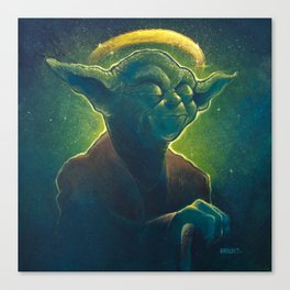 The Contemplation of Saint Yoda Canvas Print