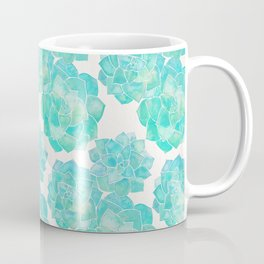 Rosette Succulents – Turquoise Palette Coffee Mug