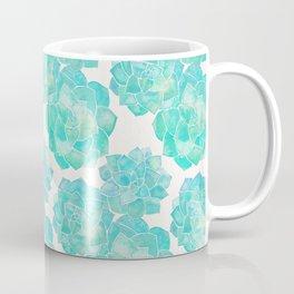 Rosette Succulents – Turquoise Palette Coffee Mug