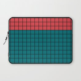 Red turquoise  plaid Laptop Sleeve