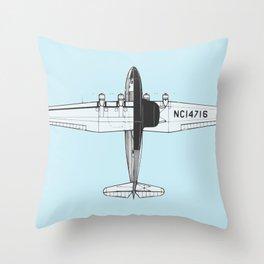 Airplane Sketch Throw Pillow