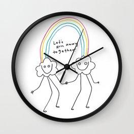 Runaway Rainbow Wall Clock