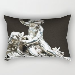 Silver Angels Modern Abstract Rectangular Pillow