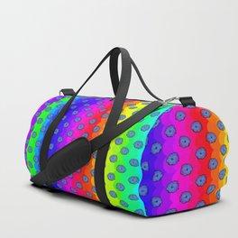 Rainbow and blue flowers Duffle Bag