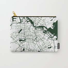 Amsterdam White on Green Street Map Carry-All Pouch