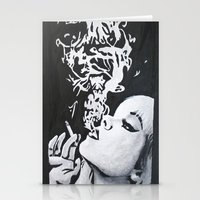 smoking Stationery Cards featuring Smoking by Fallon Chase