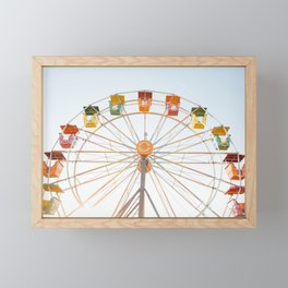 Summer Ferris Wheel Framed Mini Art Print