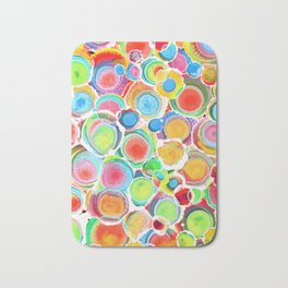 Sunshine on Your Spotty Mind (Alcohol Inks Series 07) Bath Mat