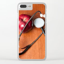Stethoscope and apple Clear iPhone Case