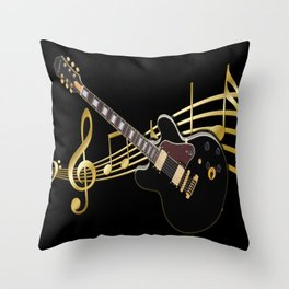 Guitar Music Throw Pillow