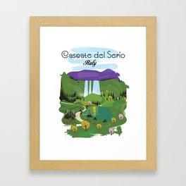 Cascate del Serio, Lombardia, italy, Framed Art Print