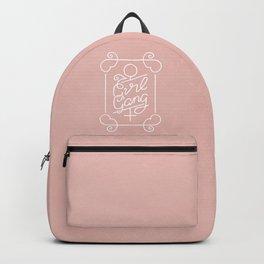 Feminist Girl Gang Pink Ornate Art Nouveau Calligraphy Backpack