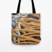 industrial Tote Bags featuring Industrial by Alicia Bock