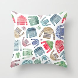 Christmas Jumpers! Throw Pillow
