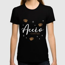 Accio Coffee - Acquire Coffee - Fictional Logo Design T-shirt