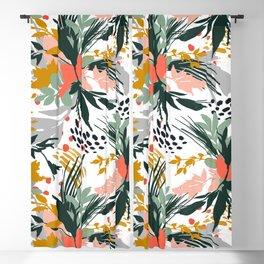 Botanical brush strokes I Blackout Curtain