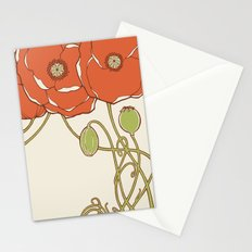 Graphic Poppies Stationery Cards