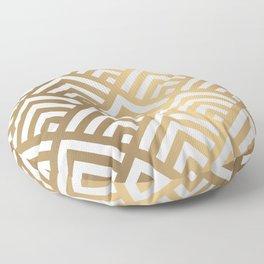 Gold geometric art deco diamond pattern Floor Pillow