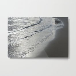 Silver-gray Water And Sand 1 Metal Print