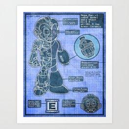 Build Your Own Mega Robot! Art Print