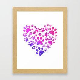 Animal Paws Heart print For Dog Lovers Framed Art Print