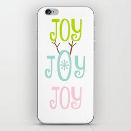 Holiday JOY antlers - coastal Christmas iPhone Skin