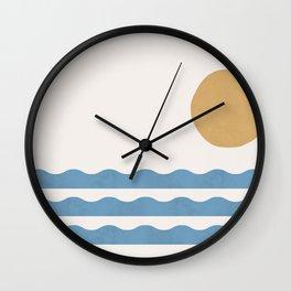 Sun Wave - Seascape Abstract  Wall Clock