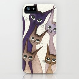 Phoenix Whimsical Cats iPhone Case