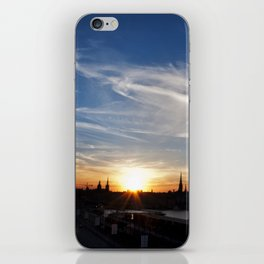 Stockholm sunset iPhone Skin