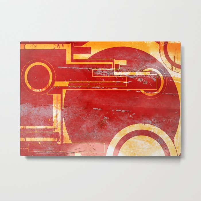 Shoot at the Red Metal Print