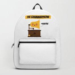 The Grammarphone - Funny Gramophone Wordplay Backpack