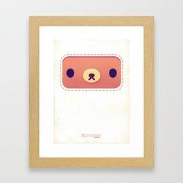 ALPHABEAR - Coffee Bear Framed Art Print