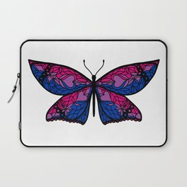 Fly With Pride: Bisexual Flag Butterfly Laptop Sleeve