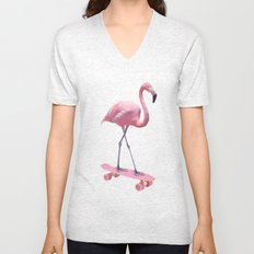 SKATE FLAMINGO Unisex V-Neck