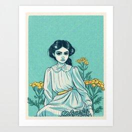 Tansies Art Print