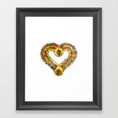 magma heart Framed Art Print