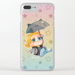 Flying Thor Clear iPhone Case