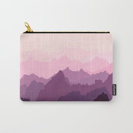 Mountains in Pink Fog Carry-All Pouch