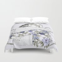 coconutwishes Duvet Covers featuring Larry by Coconut Wishes