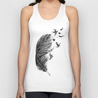 fly Tank Tops featuring Fly Away by Rachel Caldwell
