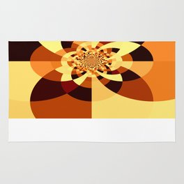 Orange Brown Kaliedoscope Rug