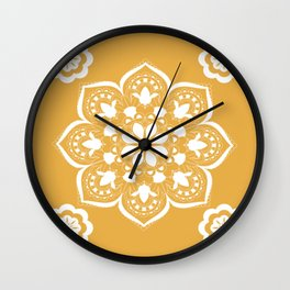 MANDALA DARK YELLOW Wall Clock