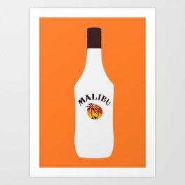 Malibu Bottle Art Print