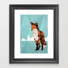 Ice Fox  Framed Art Print