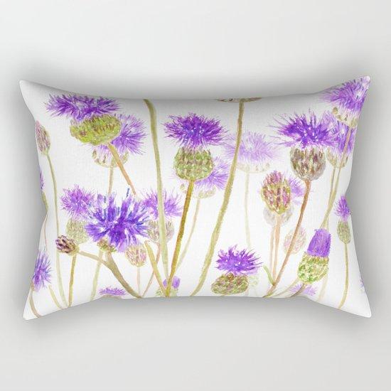 purple thorny wildflower Rectangular Pillow