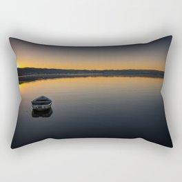 Boat on Knysna lagoon at Sunrise Rectangular Pillow