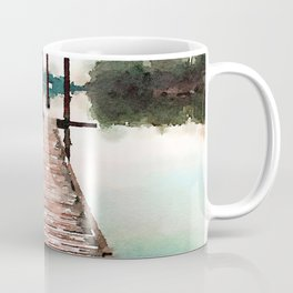 Stroll on the Dock at Sunset Coffee Mug