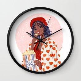 Pop-corn and heart jacket Wall Clock